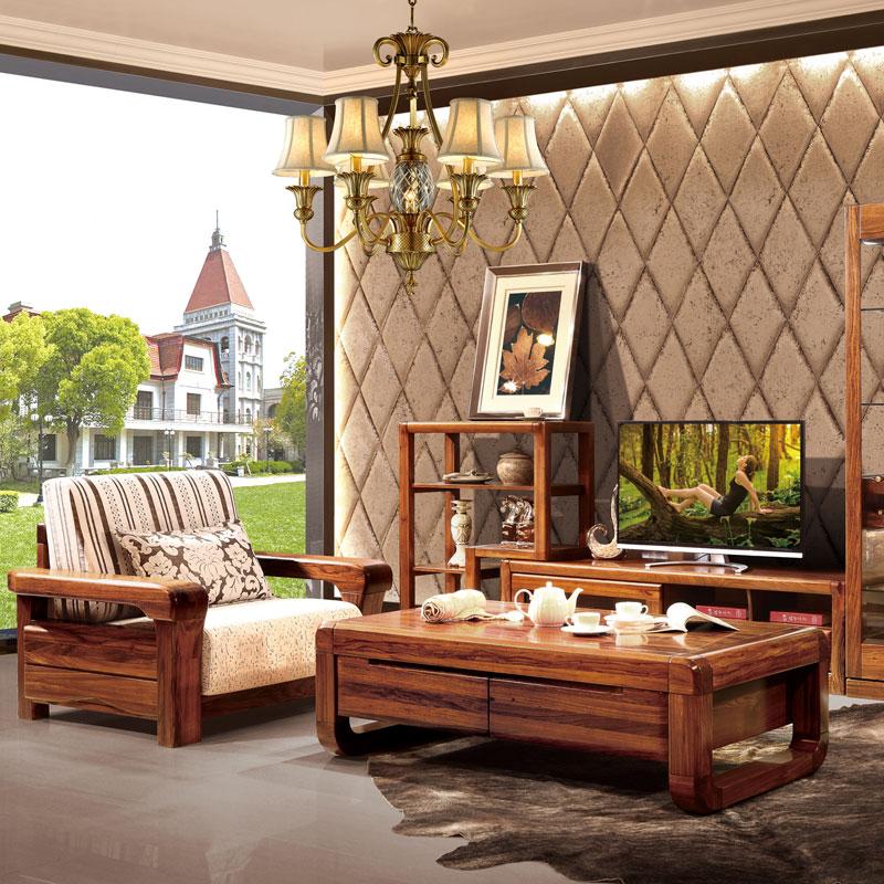 中式风格客厅实木组合沙发 39#