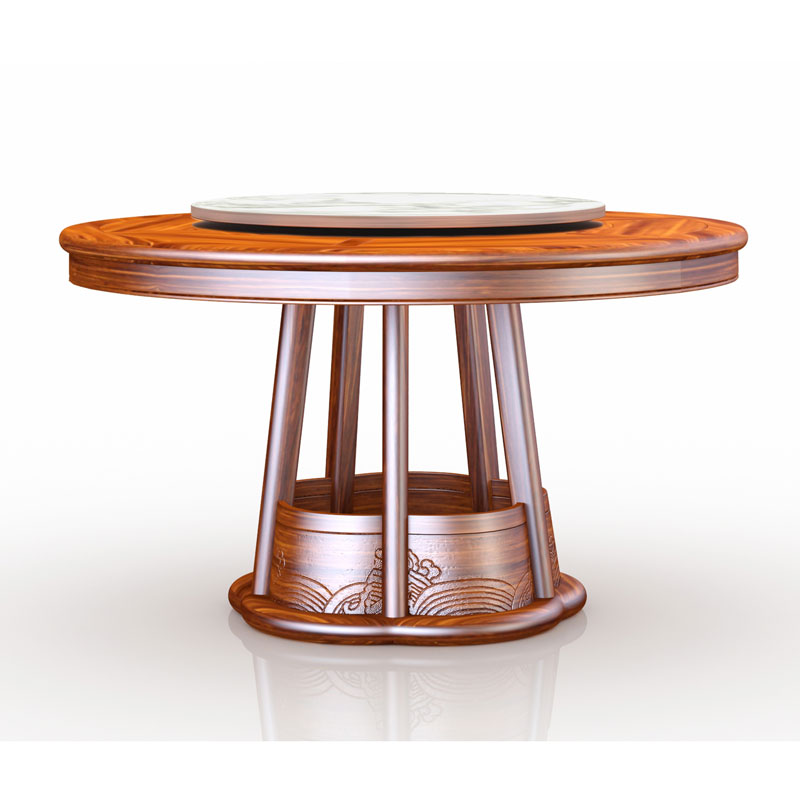 新中式实木餐桌家用圆桌 13#