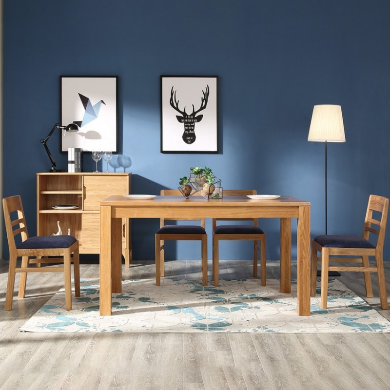 优木良匠淳系列北欧风餐厅餐桌椅AT204餐边柜