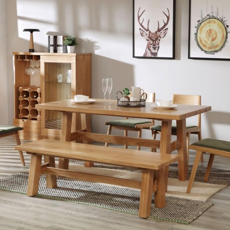 优木良匠淳系列北欧风餐厅餐桌椅餐边柜酒柜0851-0857-0860-0864