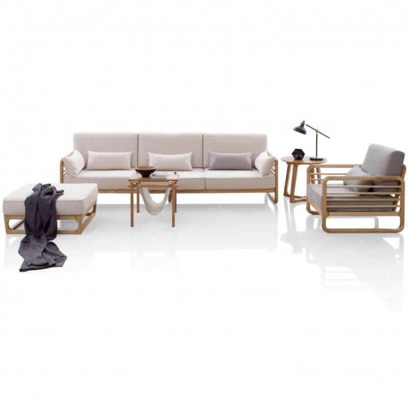 优木良匠淳系列北欧风客厅沙发套沙发组合茶几