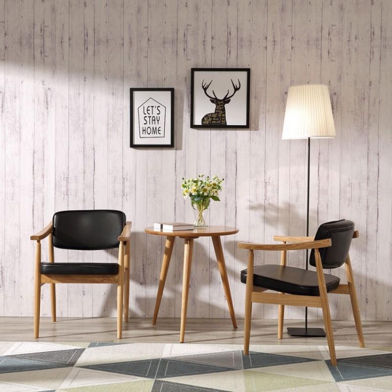 优木良匠淳系列北欧风休闲椅套装茶几