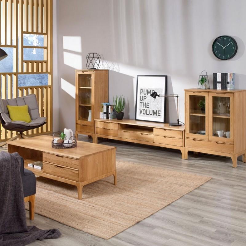 优木良匠淳系列北欧风客厅电视柜组合边柜酒柜