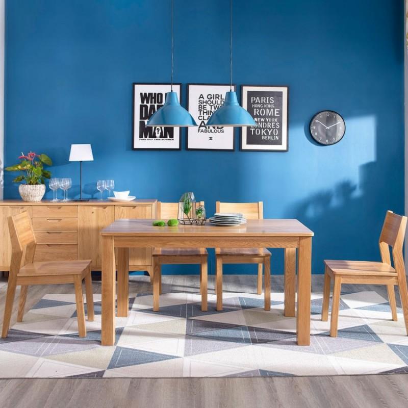 优木良匠淳系列北欧风餐厅餐桌椅餐边柜