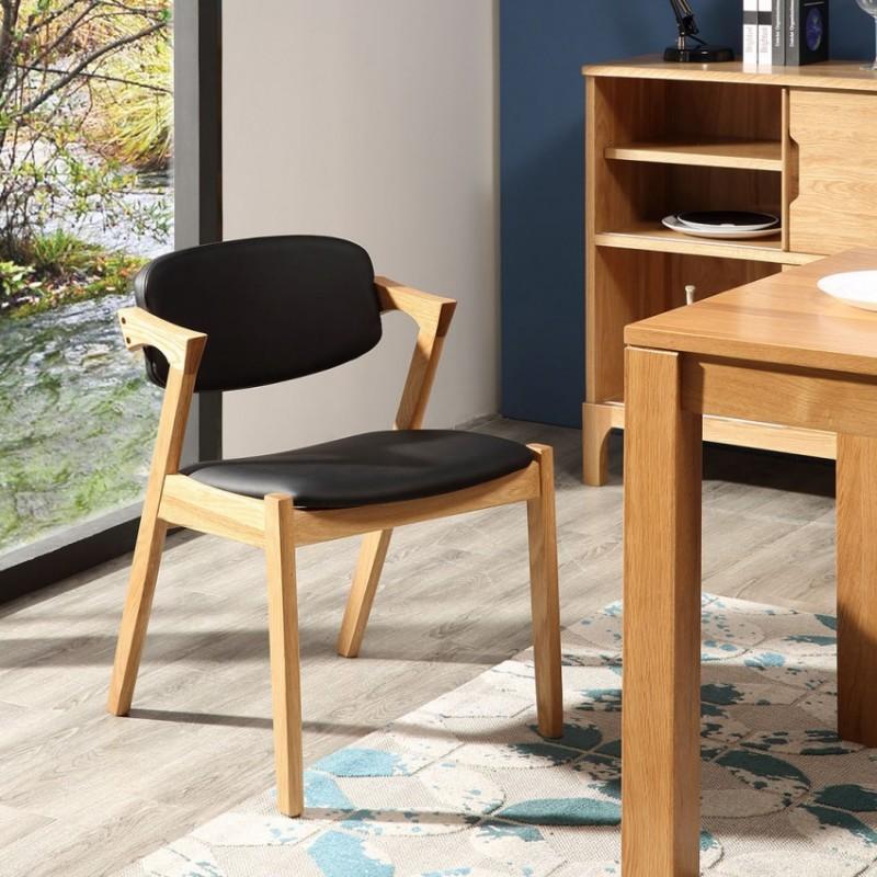优木良匠淳系列北欧风实木休闲椅AY012
