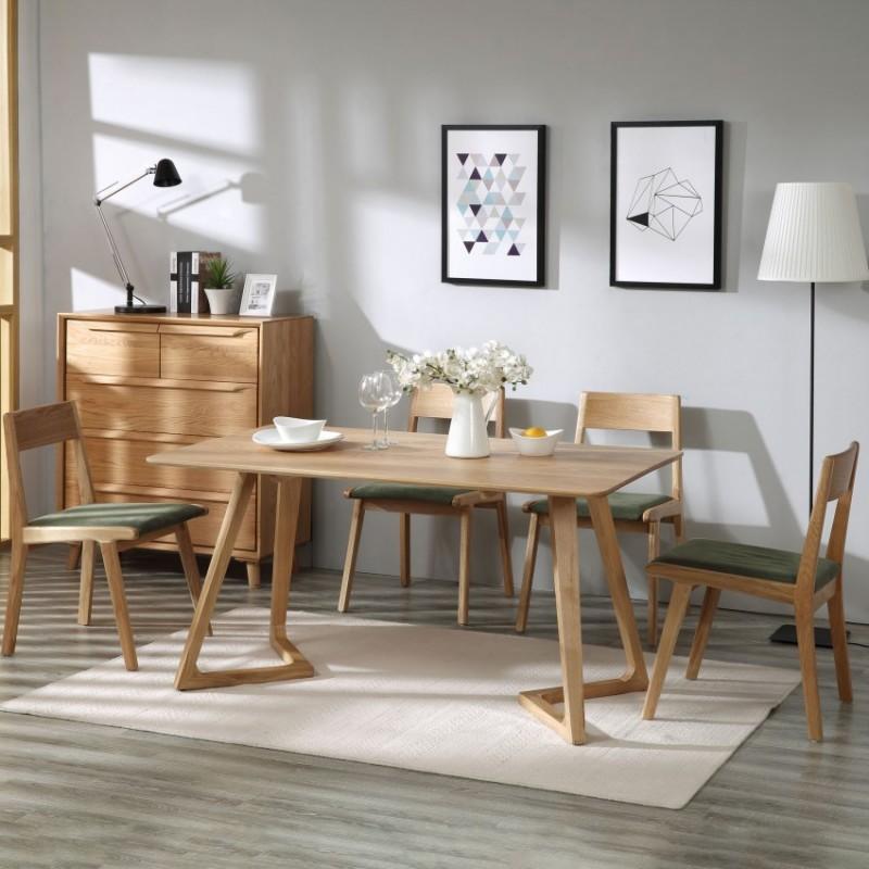 优木良匠淳系列北欧风实木餐桌椅餐边柜0902