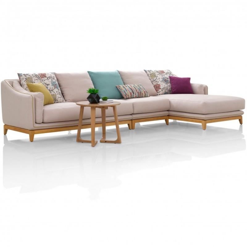 优木良匠淳系列北欧风客厅实木转角沙发组合
