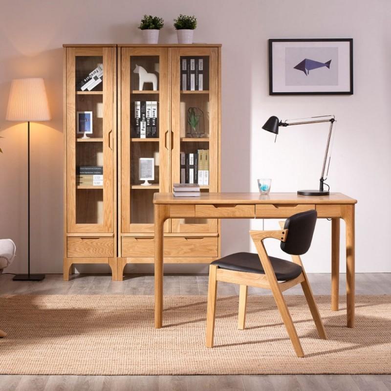 优木良匠淳系列北欧风书房书桌椅书柜