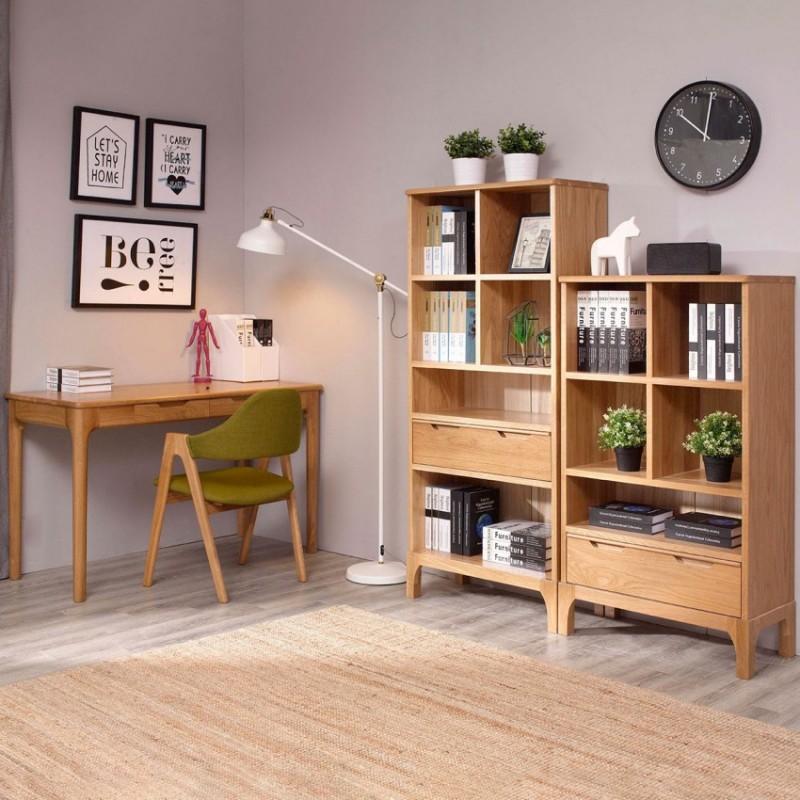 优木良匠淳系列北欧风书房书桌椅书柜1