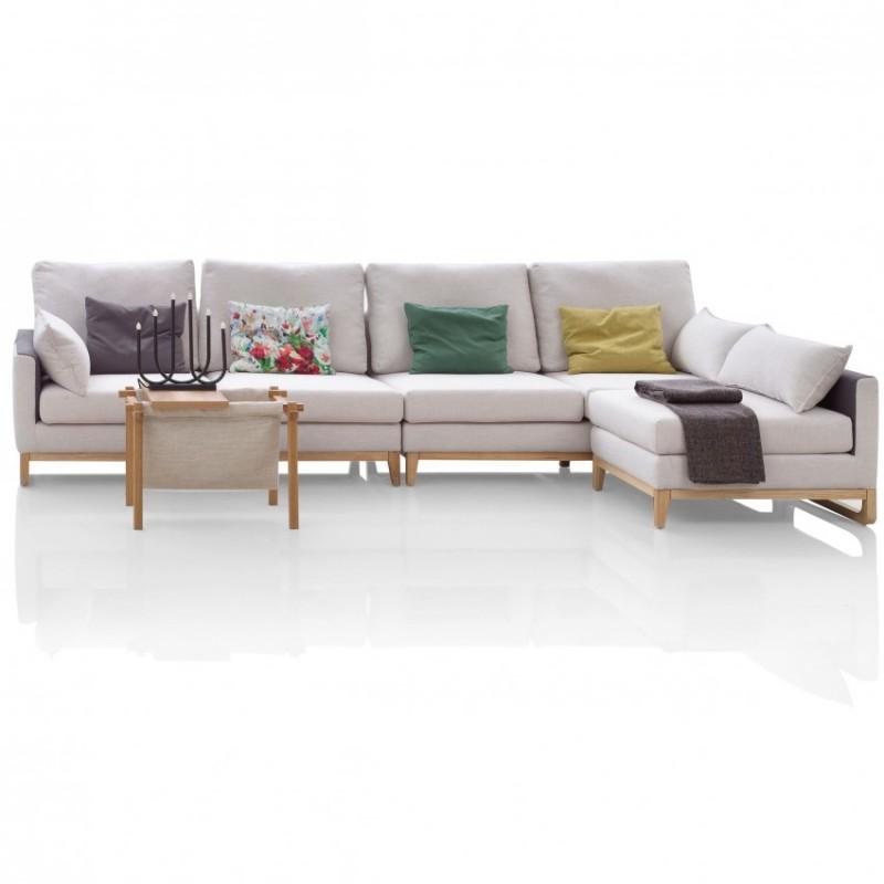 优木良匠淳系列北欧风客厅实木转角沙发组合2