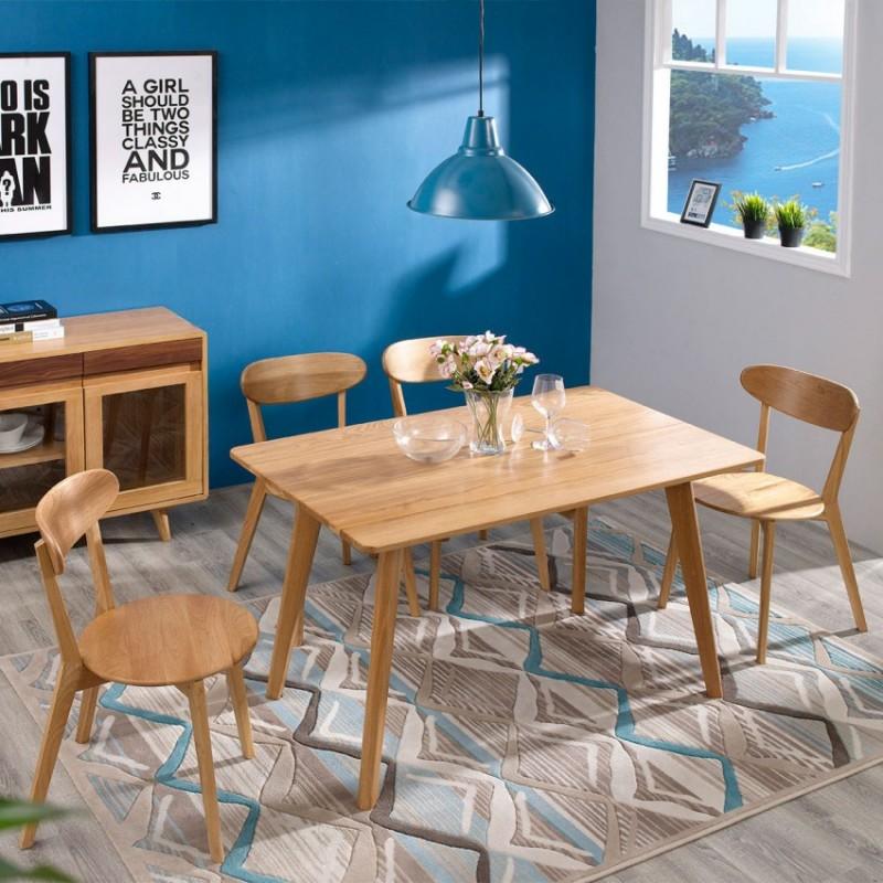 优木良匠淳系列北欧风餐厅餐桌椅餐边柜1