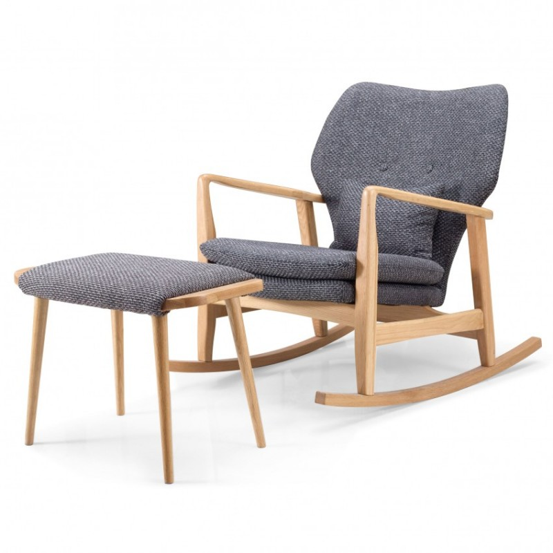 优木良匠淳系列北欧风实木休闲椅休闲等脚凳