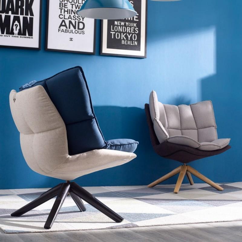 优木良匠淳系列北欧风实木休闲椅休闲沙发