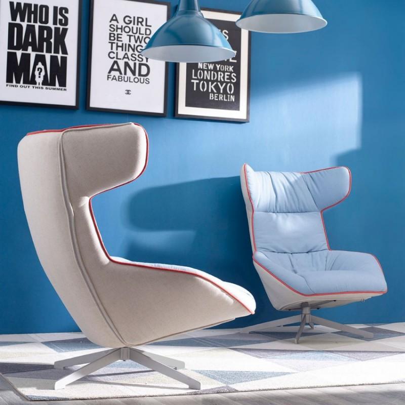 优木良匠淳系列北欧风实木休闲椅休闲沙发1
