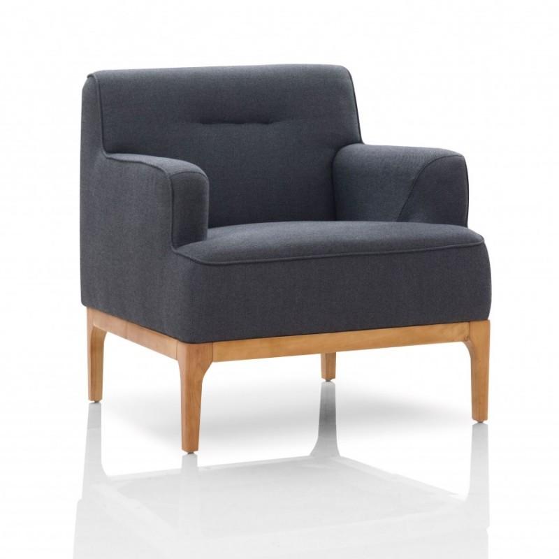 优木良匠淳系列北欧风实木休闲沙发单人位沙发