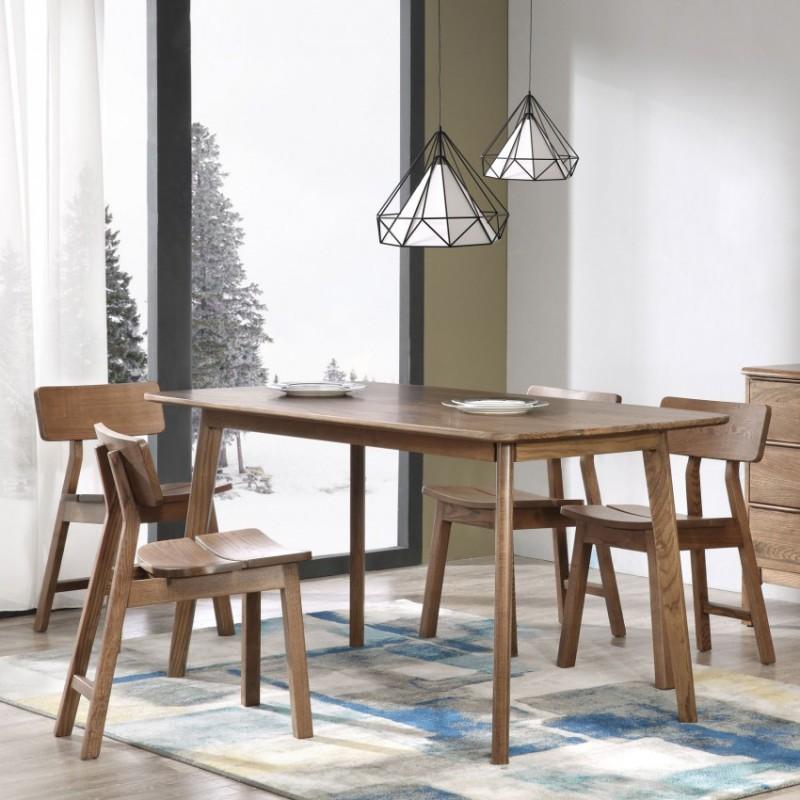 优木良匠朴系列北欧风实木家具餐厅餐桌椅