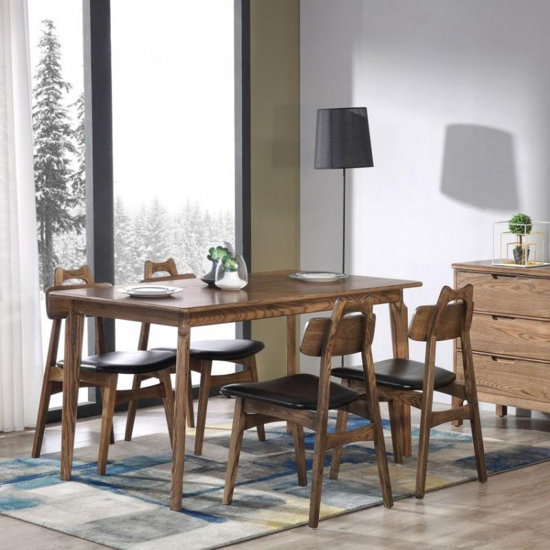 优木良匠朴系列北欧风实木家具餐厅餐桌椅餐边柜