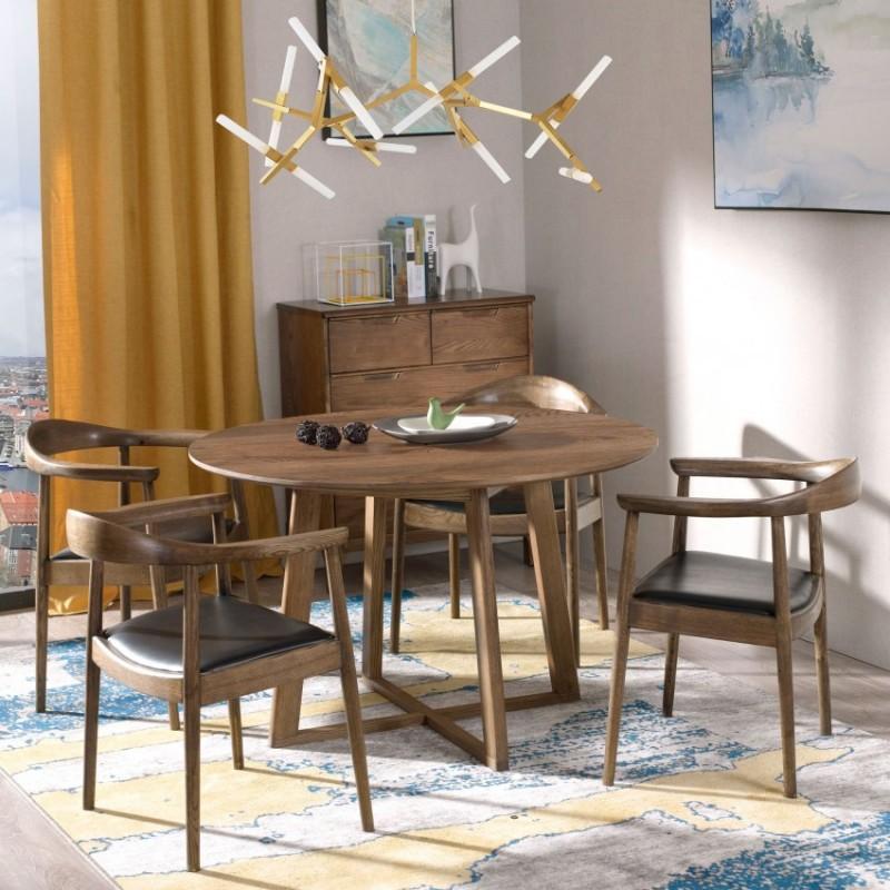 优木良匠朴系列北欧风实木家具餐厅餐桌椅餐边柜1