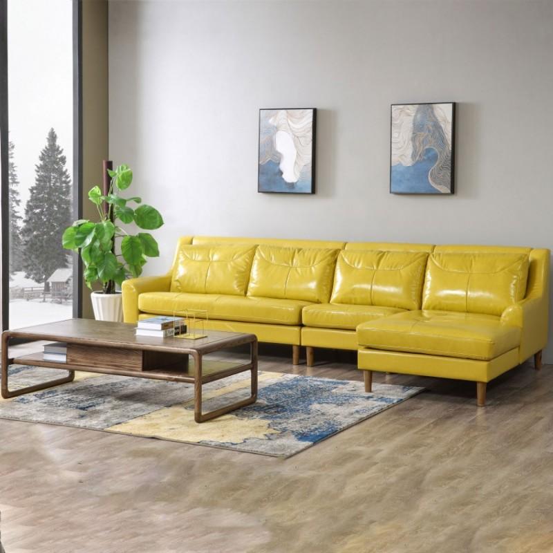 优木良匠朴系列北欧风实木家具客厅沙发组合茶几3