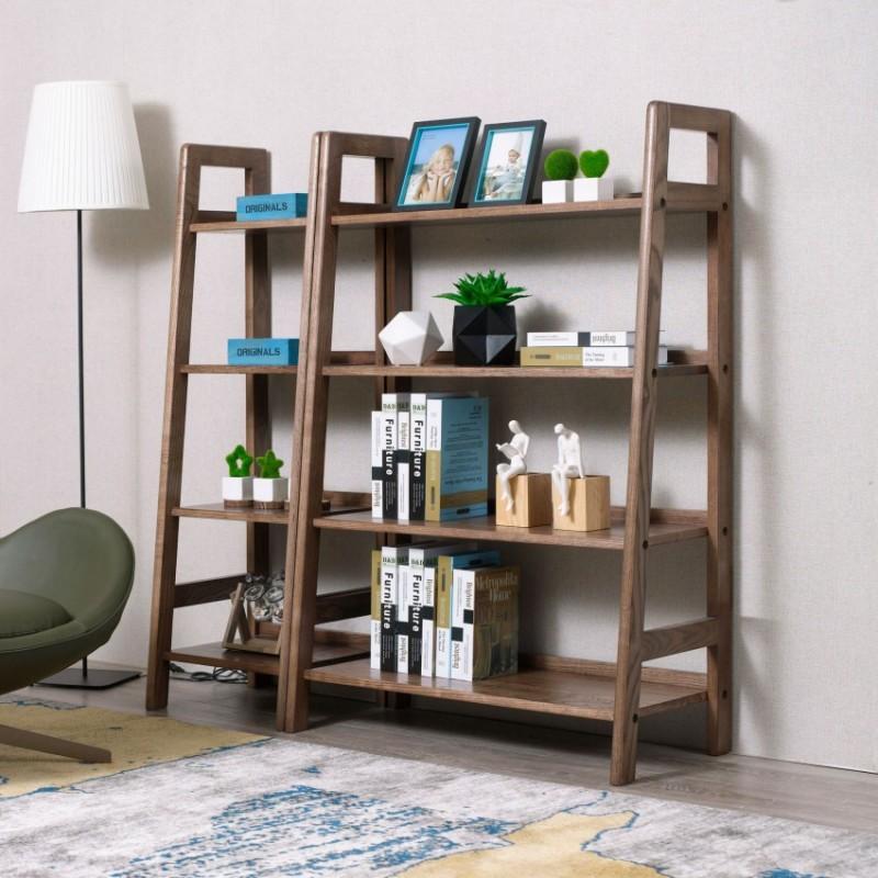 优木良匠朴系列北欧风实木家具书架展示架