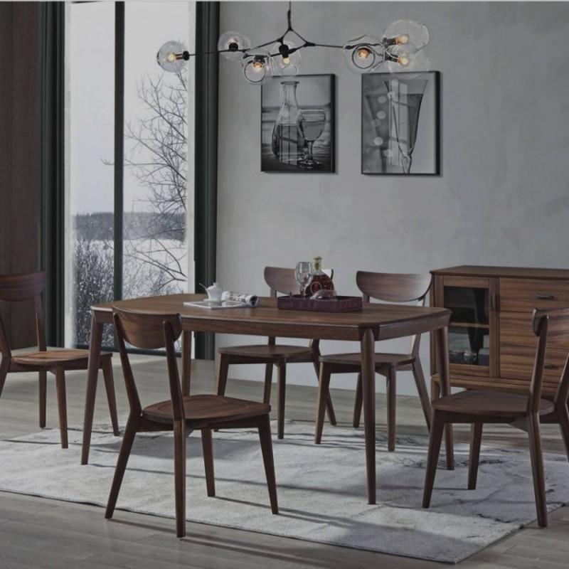 美林仕家德朗系列餐厅餐桌椅餐边柜DL305+406+2206+2203