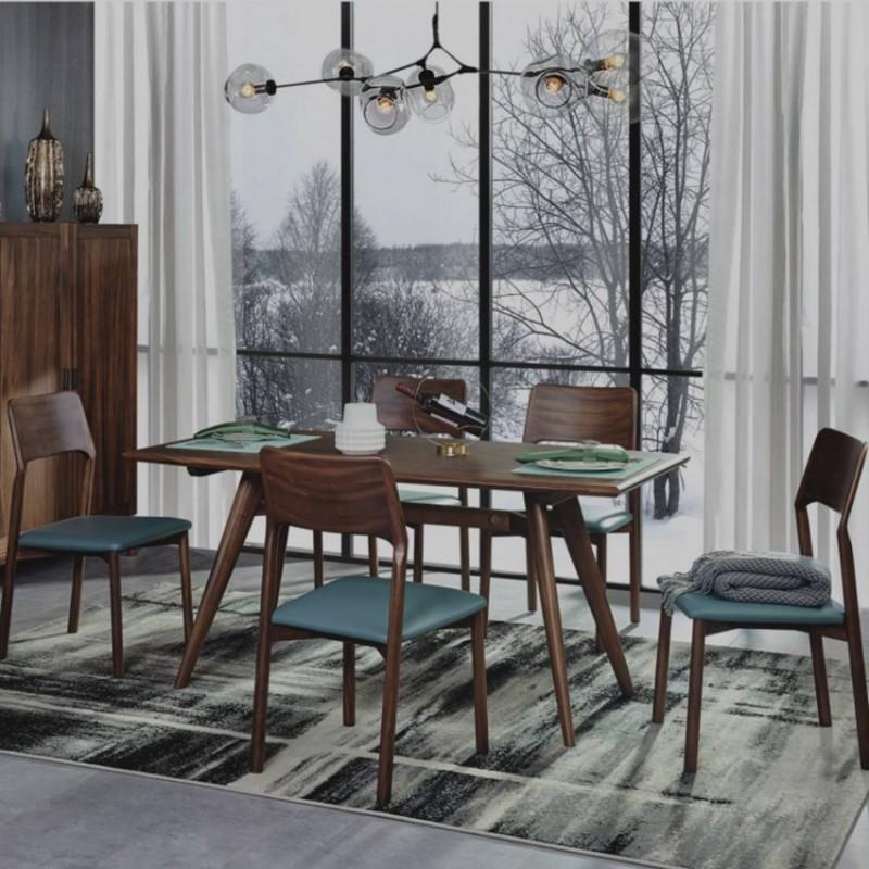 美林仕家德朗系列餐厅餐桌椅餐边柜DL309+418+2309