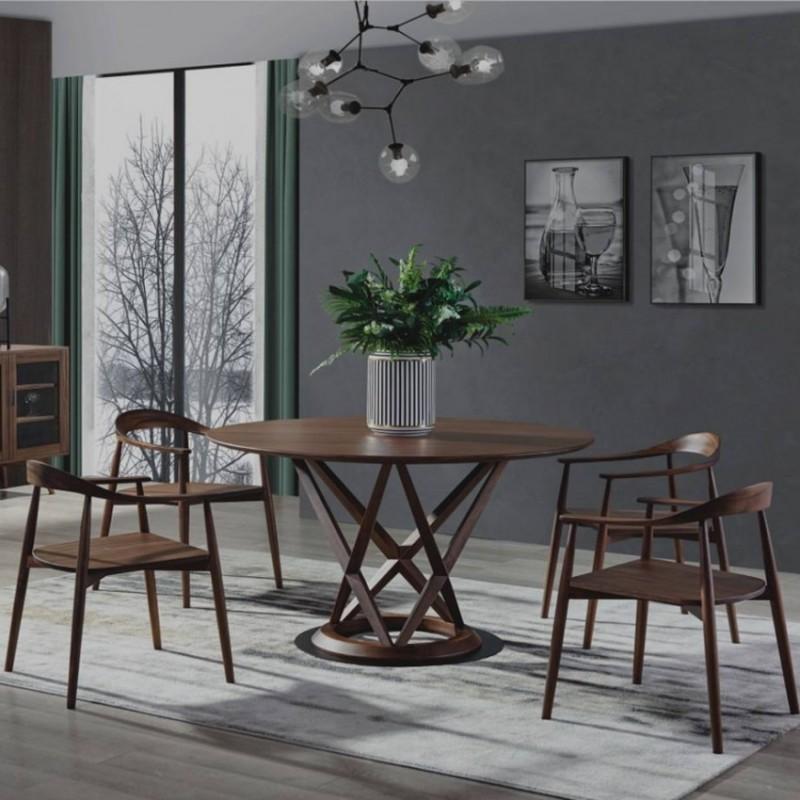 美林仕家德朗系列餐厅餐桌椅餐边柜DL310+DL408+2206