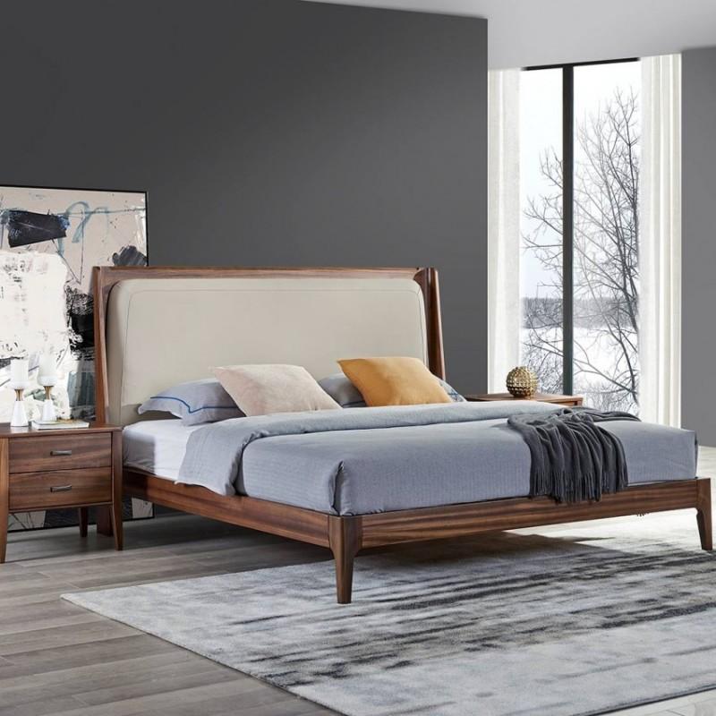 美林仕家德朗系列卧房实木大床衣柜床头柜DL-C103+201