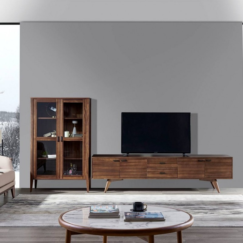 美林仕家德朗系列客厅电视柜组合柜边柜立柜DL-E2106+DL-A2301