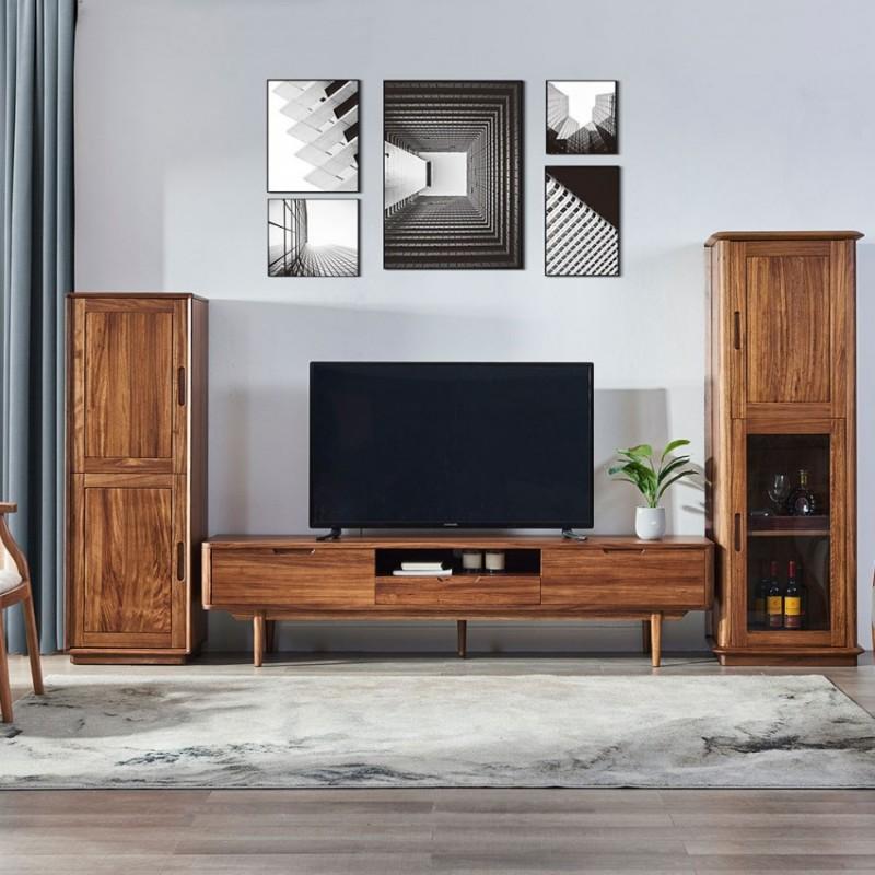 美林仕家朗博系列北欧风客厅电视柜组合柜边柜装饰柜