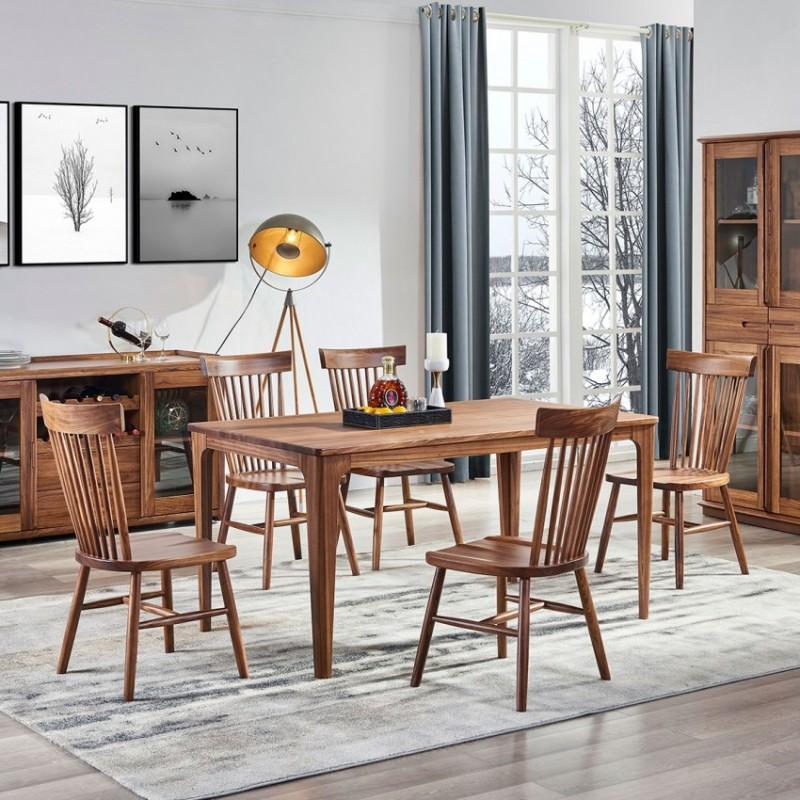 美林仕家朗博系列北欧风餐厅餐桌椅餐边柜酒柜HL310+406+207