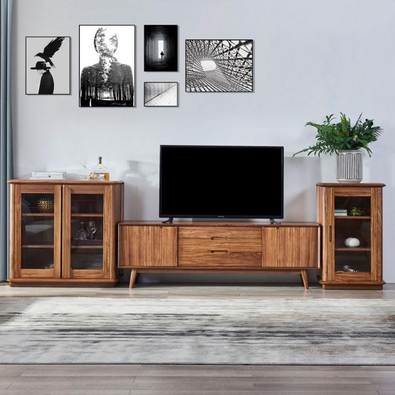 美林仕家朗博系列北欧风客厅电视柜组合柜边柜装饰柜HL2022+2026+206