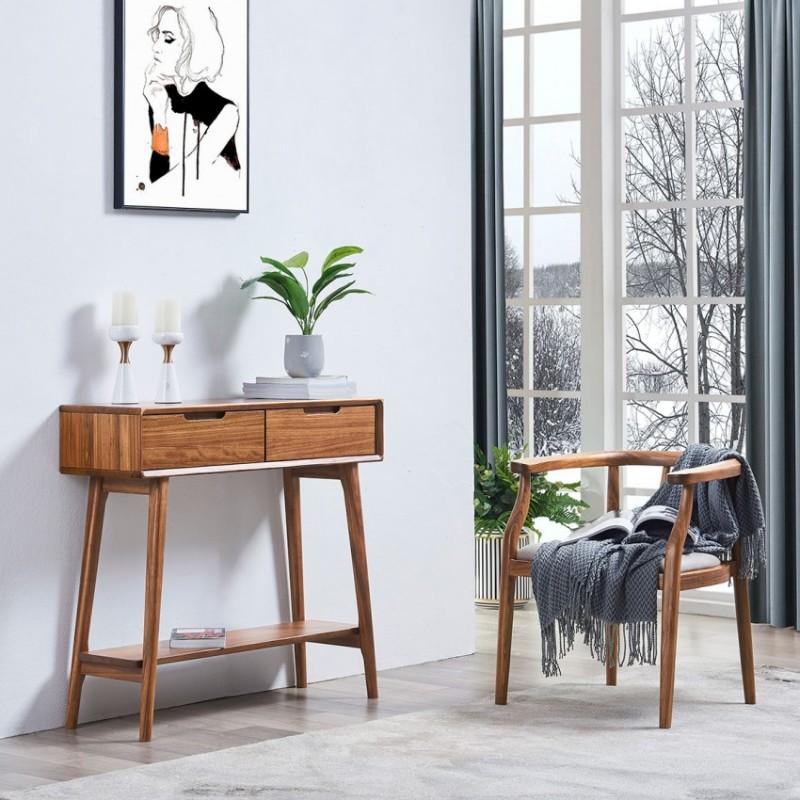 美林仕家朗博系列北欧风玄关柜装饰柜边柜梳妆台2030