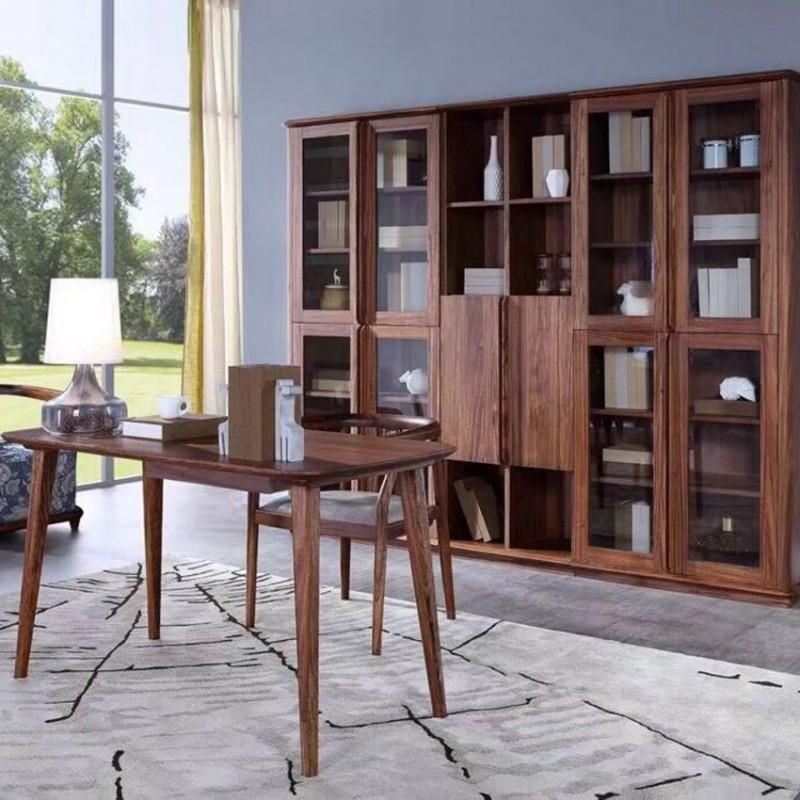 美林仕家朗博系列北欧风书房书桌椅书柜书架HL306+408+501