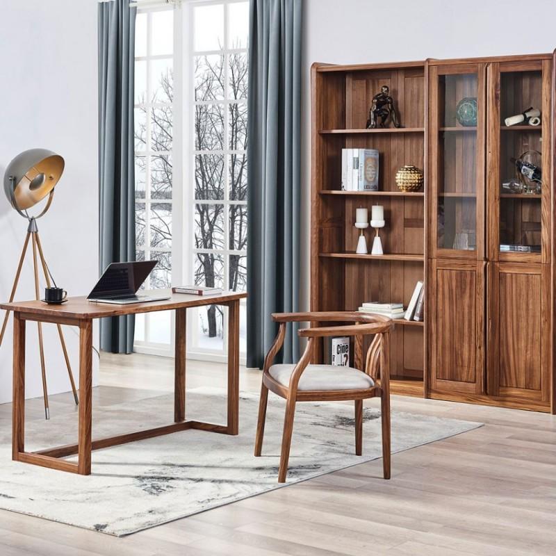 美林仕家朗博系列北欧风书房书桌椅书柜书架HL315+408