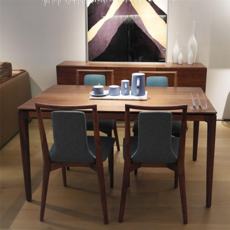 库维卡北欧风实木家具餐厅餐桌椅圆餐台1