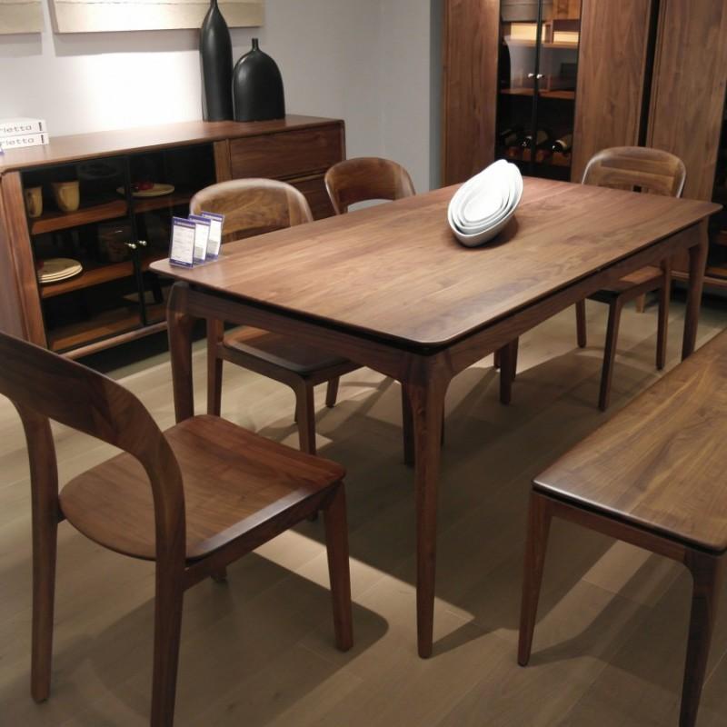 库维卡北欧风实木家具餐厅餐桌椅餐凳