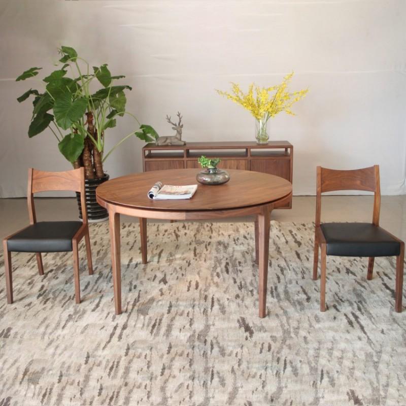 库维卡北欧风实木家具餐厅餐桌椅餐凳1
