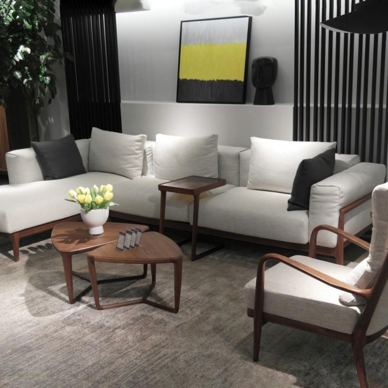库维卡北欧风实木家具客厅沙发组合茶几角几1