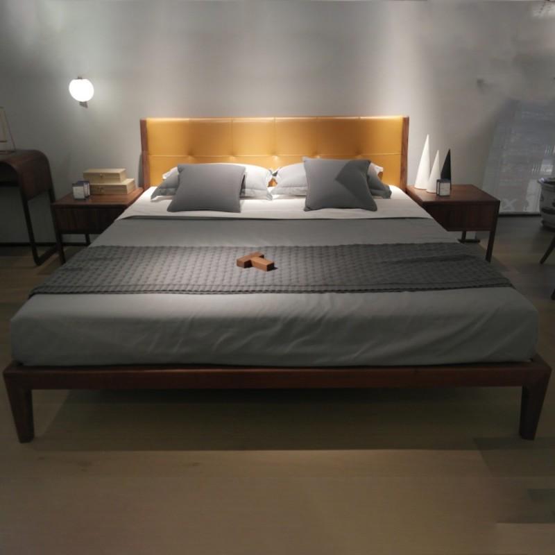 库维卡北欧风实木家具卧室大床床头柜衣柜4