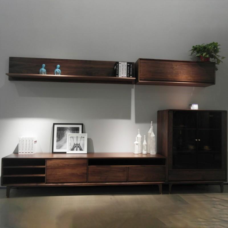 库维卡北欧风实木家具客厅电视柜组合柜墙柜壁挂柜