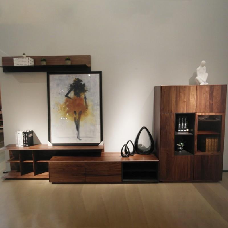 库维卡北欧风实木家具客厅电视柜组合柜墙柜壁挂柜1
