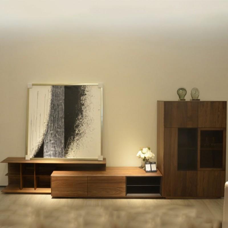 库维卡北欧风实木家具客厅电视柜组合柜墙柜壁挂柜2