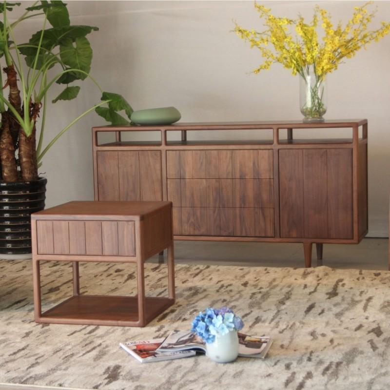 库维卡北欧风实木家具餐边柜边柜立柜