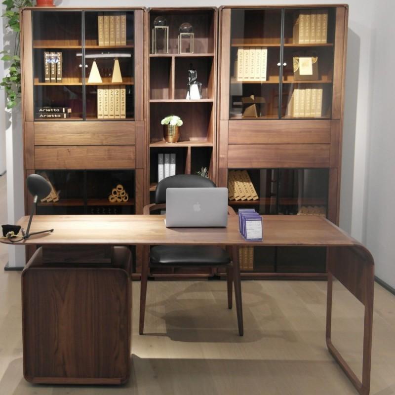 库维卡北欧风实木家具书房书桌书椅书柜书架书橱