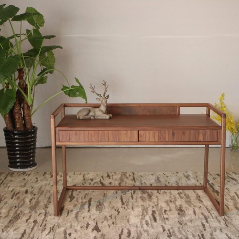 库维卡北欧风实木家具书房书桌