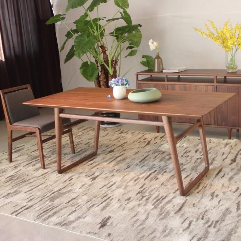 库维卡北欧风实木家具餐桌椅餐边柜
