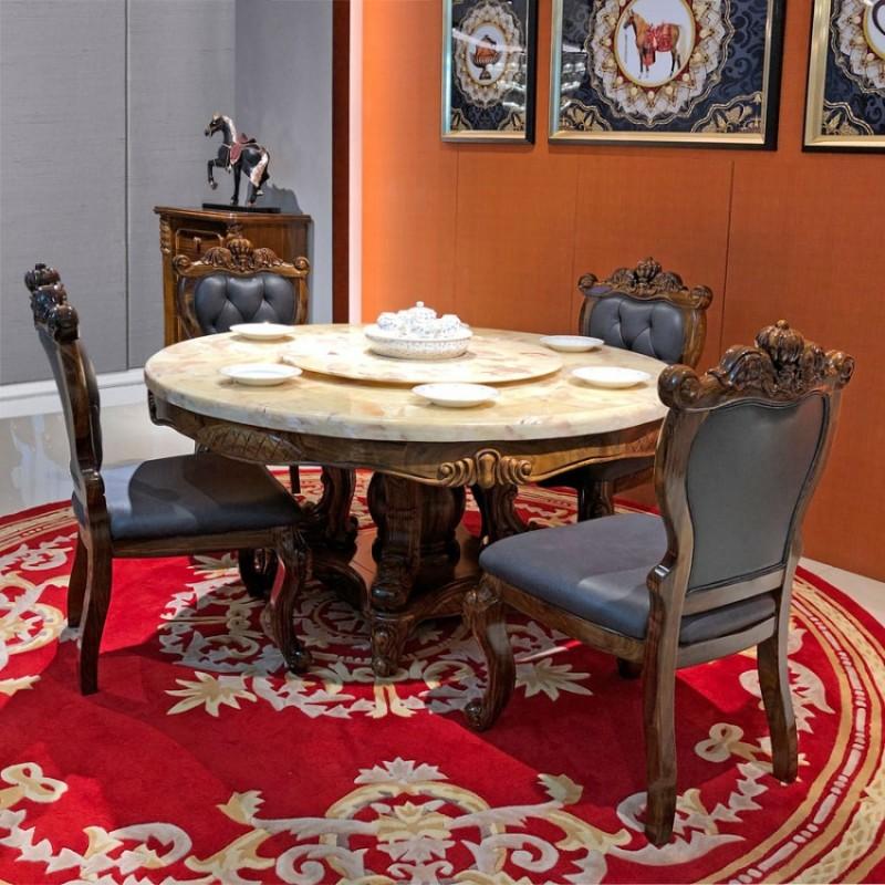 生产批发乌金木理石面餐桌椅CZ-04