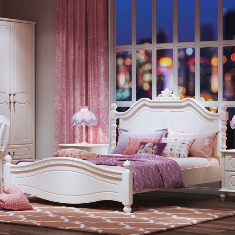 七彩人生儿童套房单人床床头柜边柜衣柜学习桌书桌-佩纳城堡