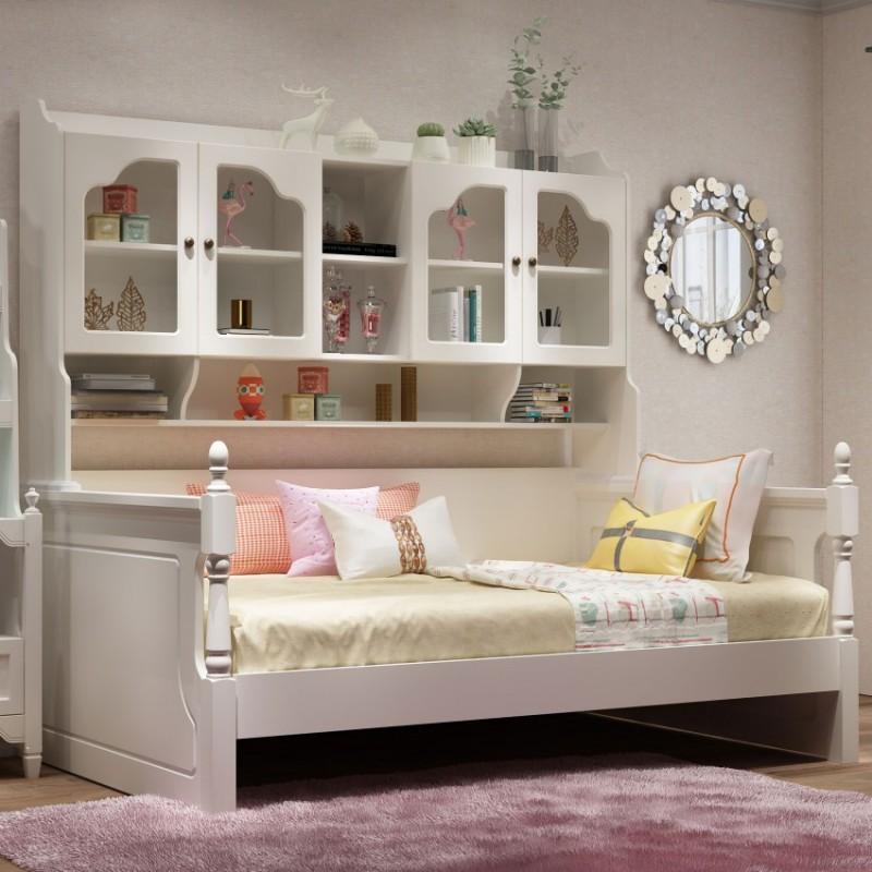 七彩人生儿童套房单人床床头柜边柜衣柜学习桌书桌-自由空间